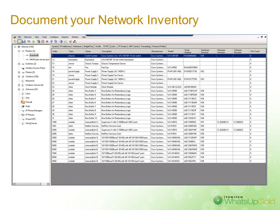 Document your Network Inventory