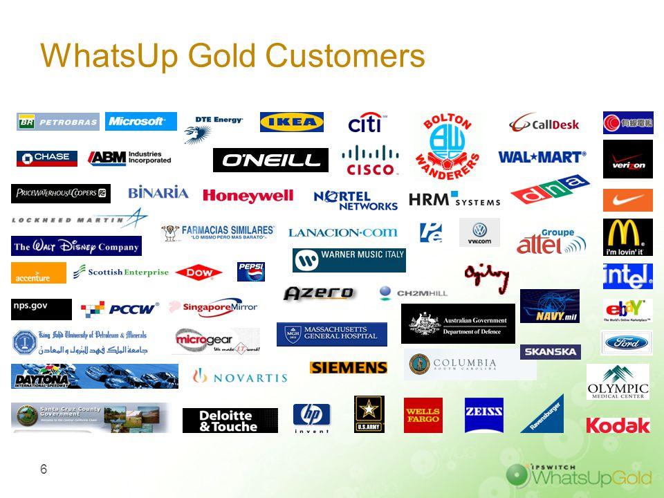 WhatsUp Gold Customers 6