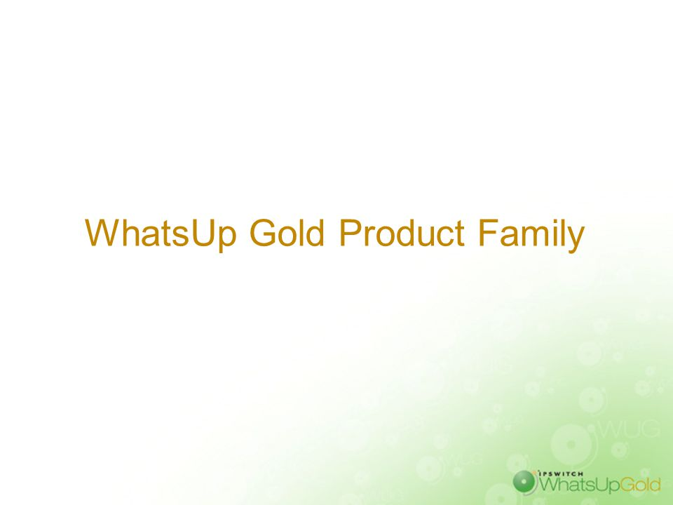 WhatsUp Gold Product Family
