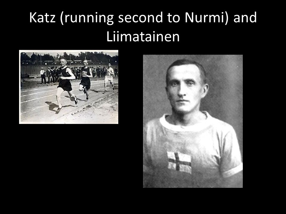 Katz (running second to Nurmi) and Liimatainen