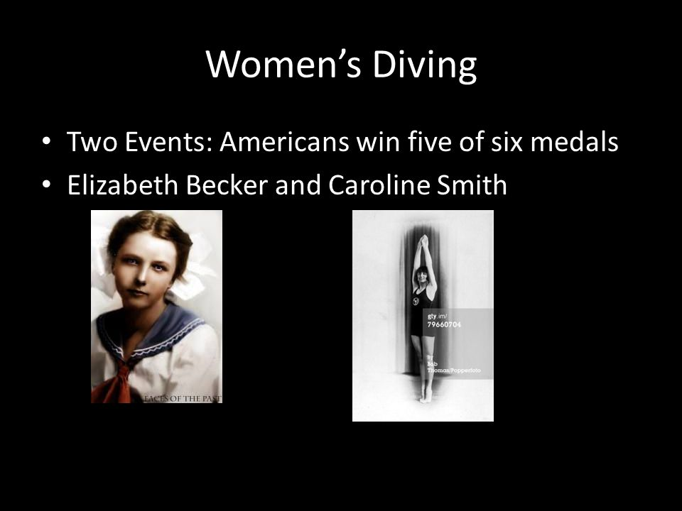 Womens Diving Two Events: Americans win five of six medals Elizabeth Becker and Caroline Smith