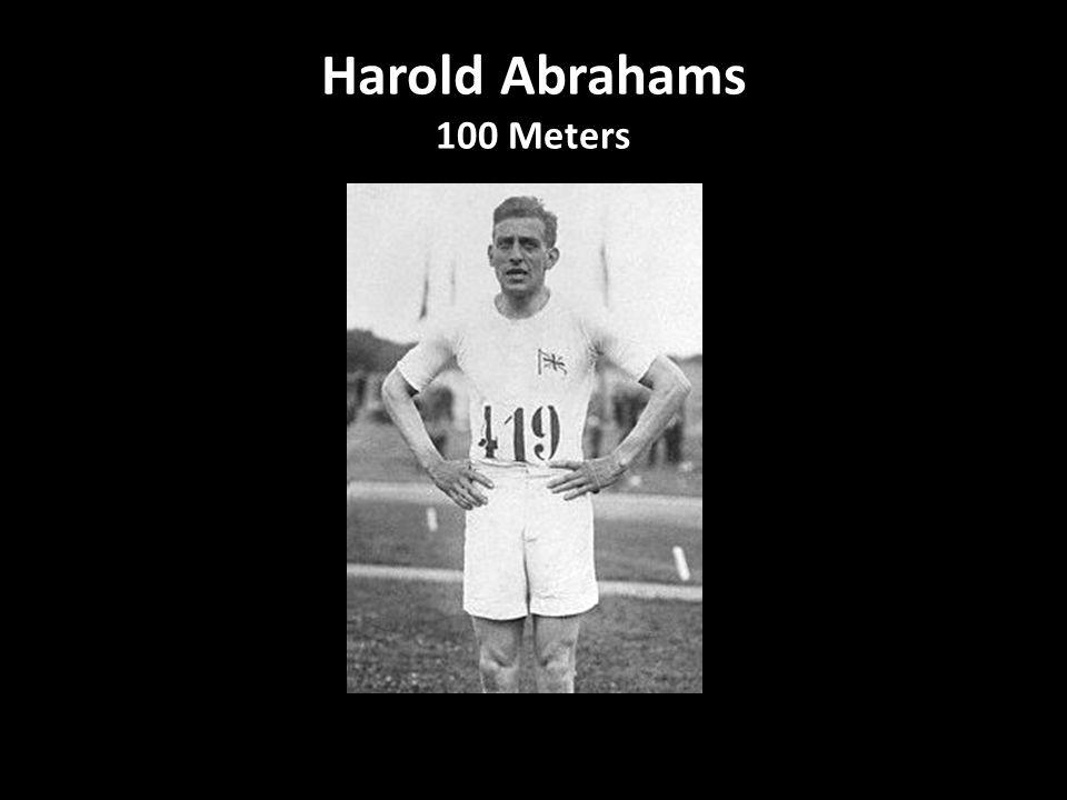 Harold Abrahams 100 Meters