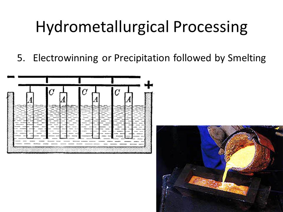 Hydrometallurgical Processing