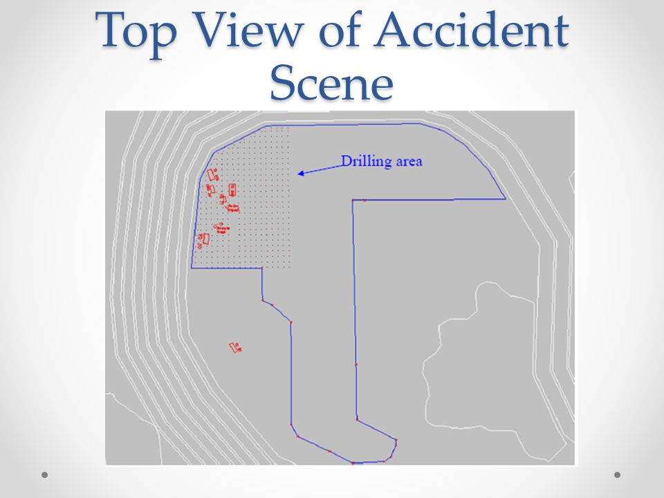 Top View of Accident Scene