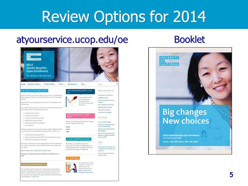 5 atyourservice.ucop.edu/oe Booklet