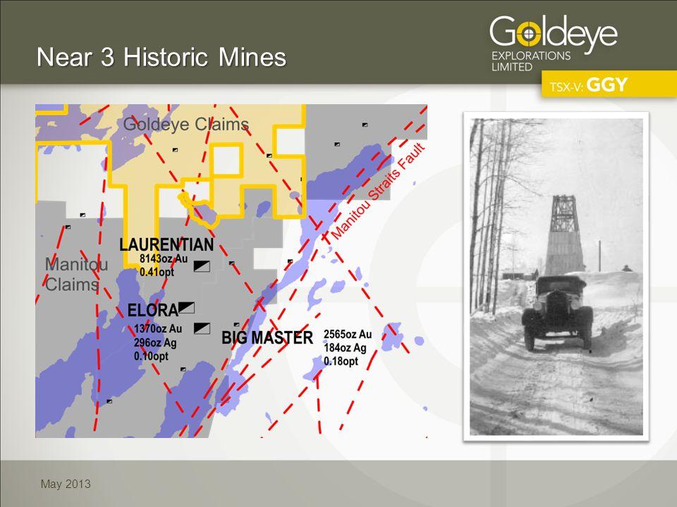 May 2013 Near 3 Historic Mines