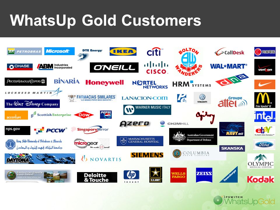 WhatsUp Gold Customers