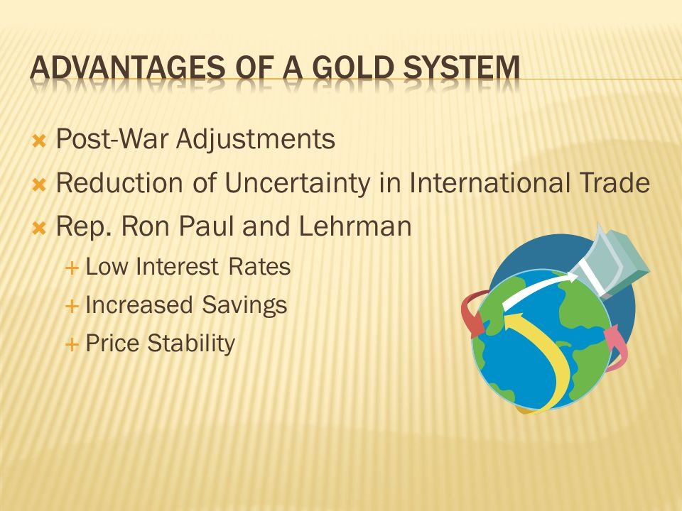 Post-War Adjustments Reduction of Uncertainty in International Trade Rep.
