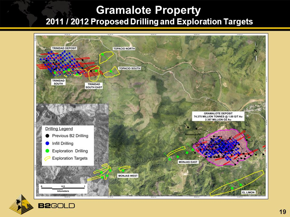 19 Gramalote Property 2011 / 2012 Proposed Drilling and Exploration Targets