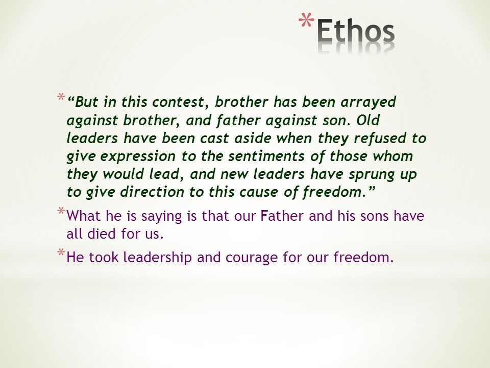 * But in this contest, brother has been arrayed against brother, and father against son. Old leaders have been cast aside when they refused to give ex