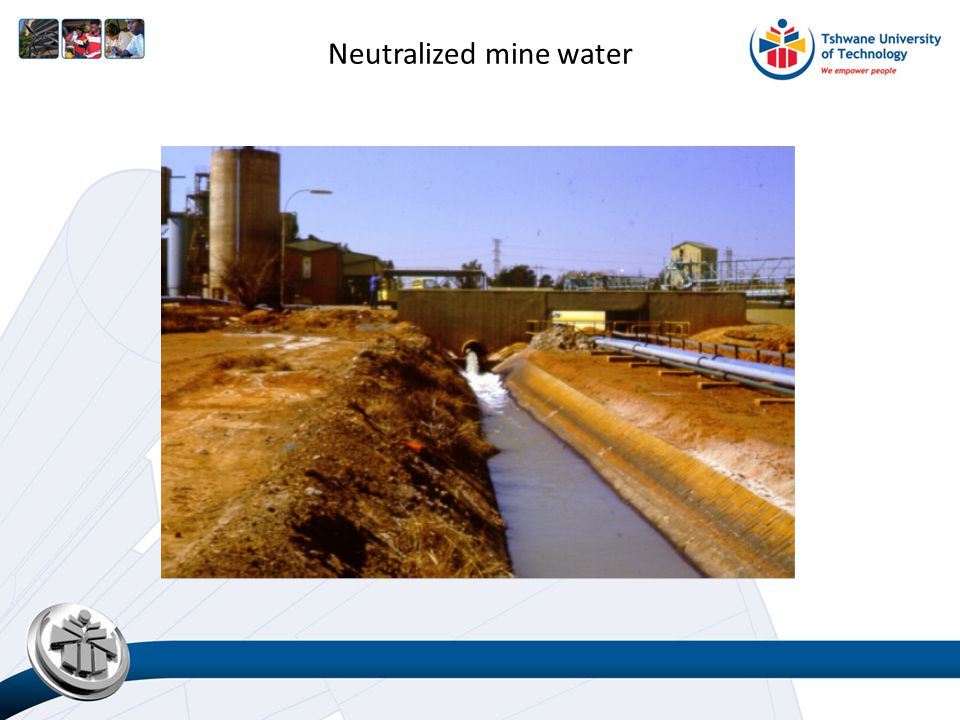 Neutralized mine water
