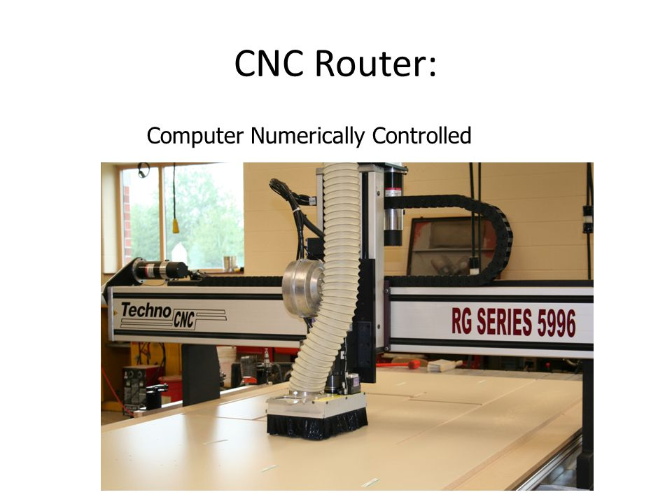 CNC Router: Computer Numerically Controlled