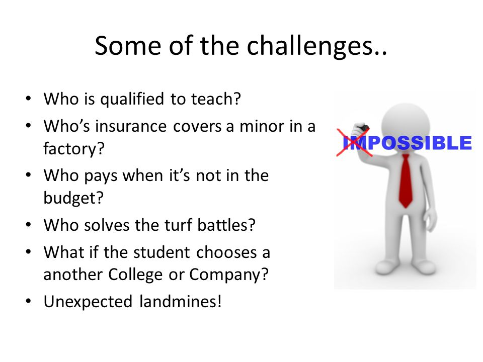 Some of the challenges.. Who is qualified to teach.