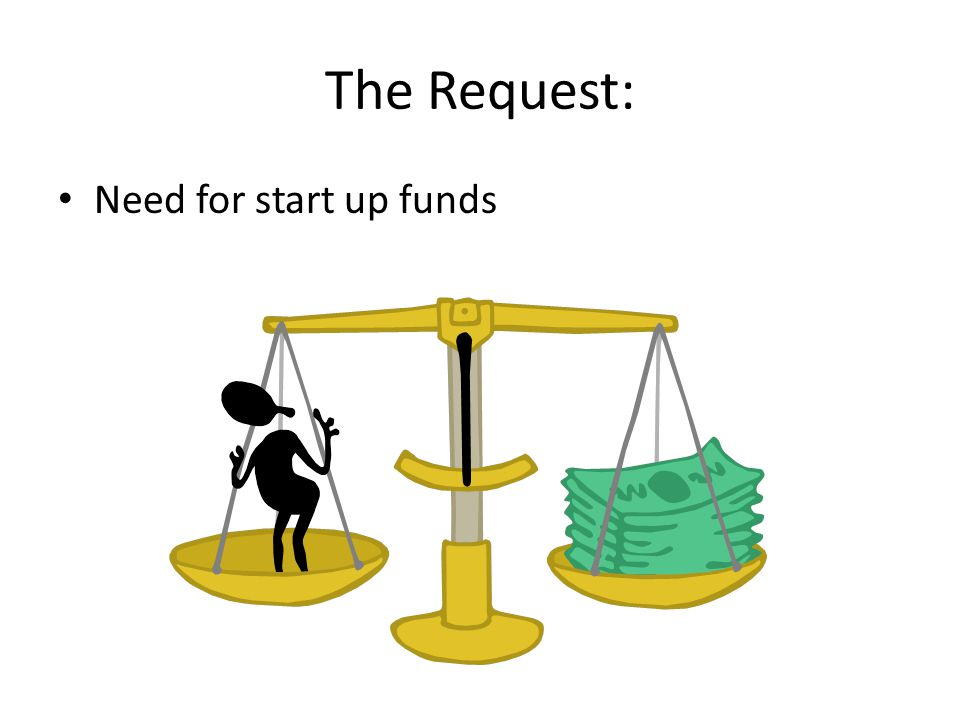 The Request: Need for start up funds