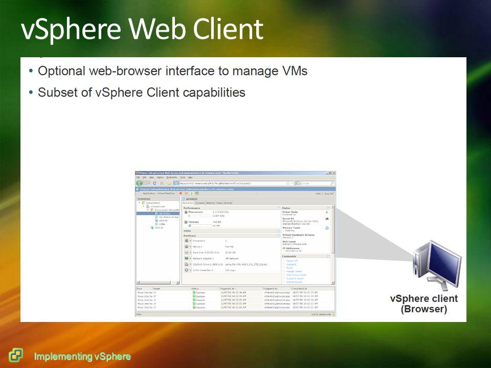 Implementing vSphere vSphere Web Client
