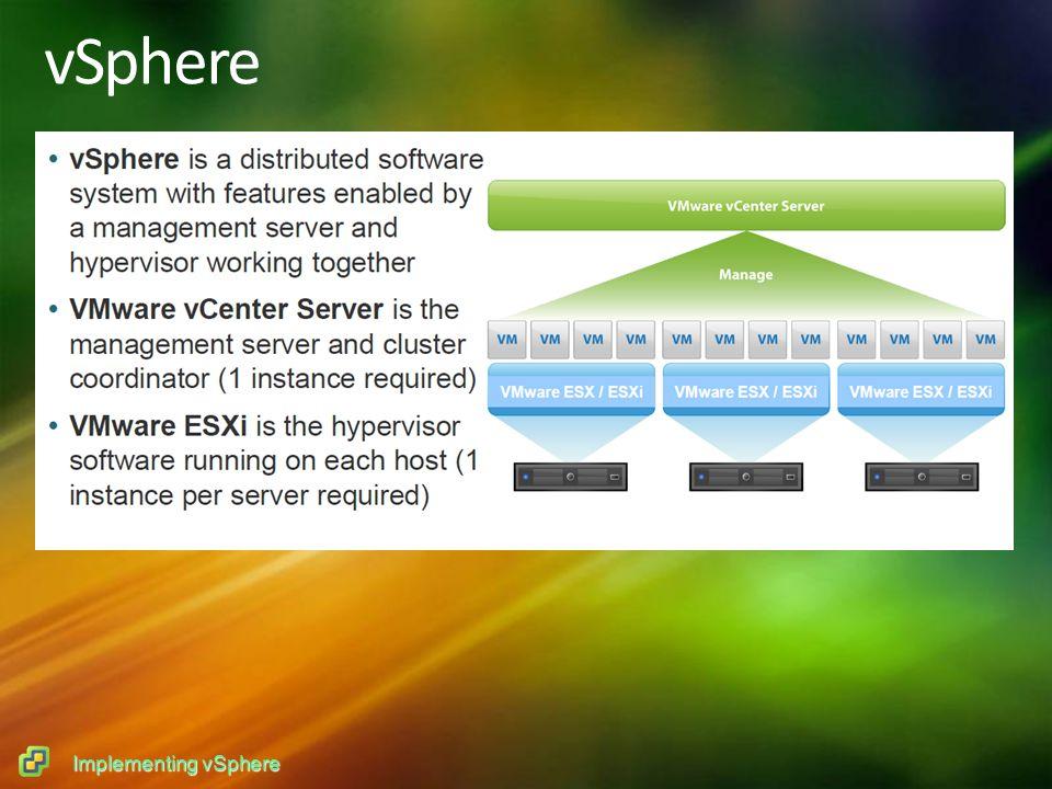 Implementing vSphere vSphere