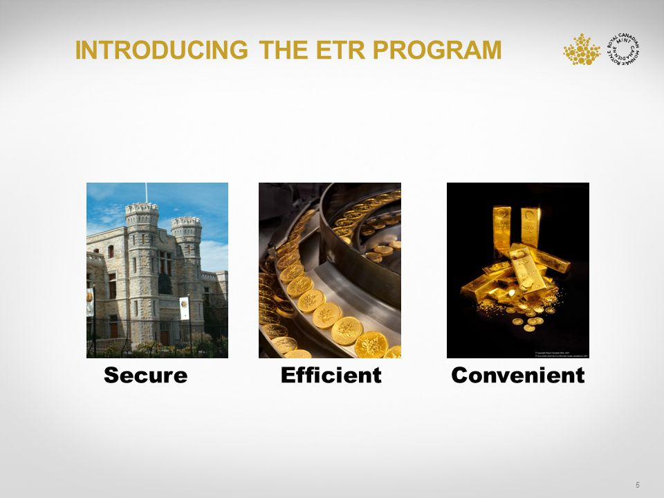 INTRODUCING THE ETR PROGRAM 5 SecureEfficientConvenient