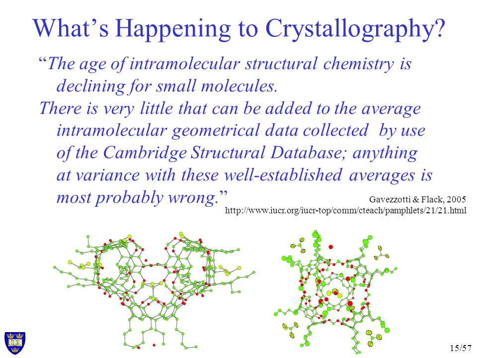 15/57 Whats Happening to Crystallography.