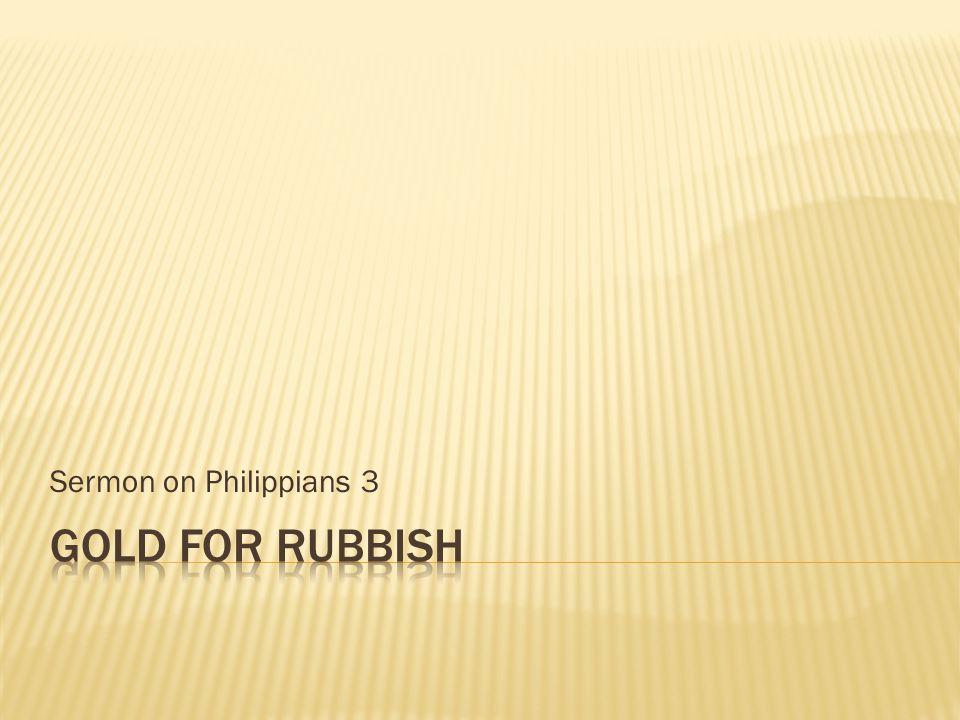 Sermon on Philippians 3