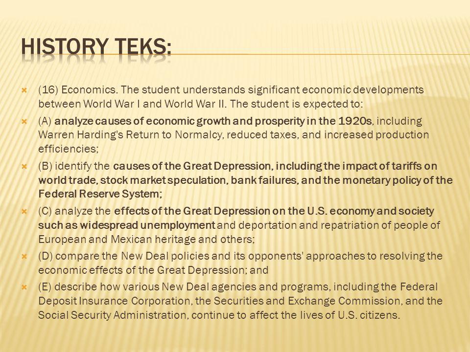 (16) Economics.