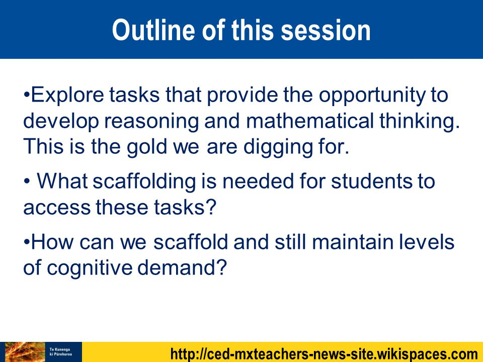 Two Classrooms Explore tasks that provide the opportunity to develop reasoning and mathematical thinking.