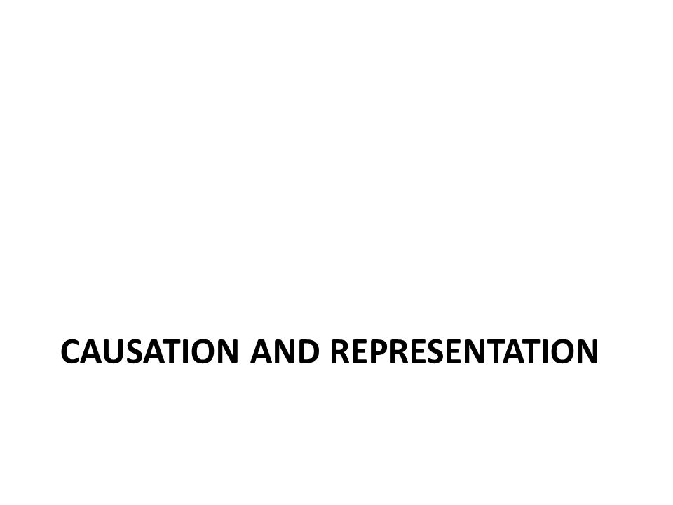 CAUSATION AND REPRESENTATION