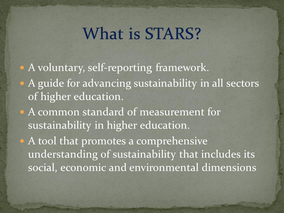 A voluntary, self-reporting framework.