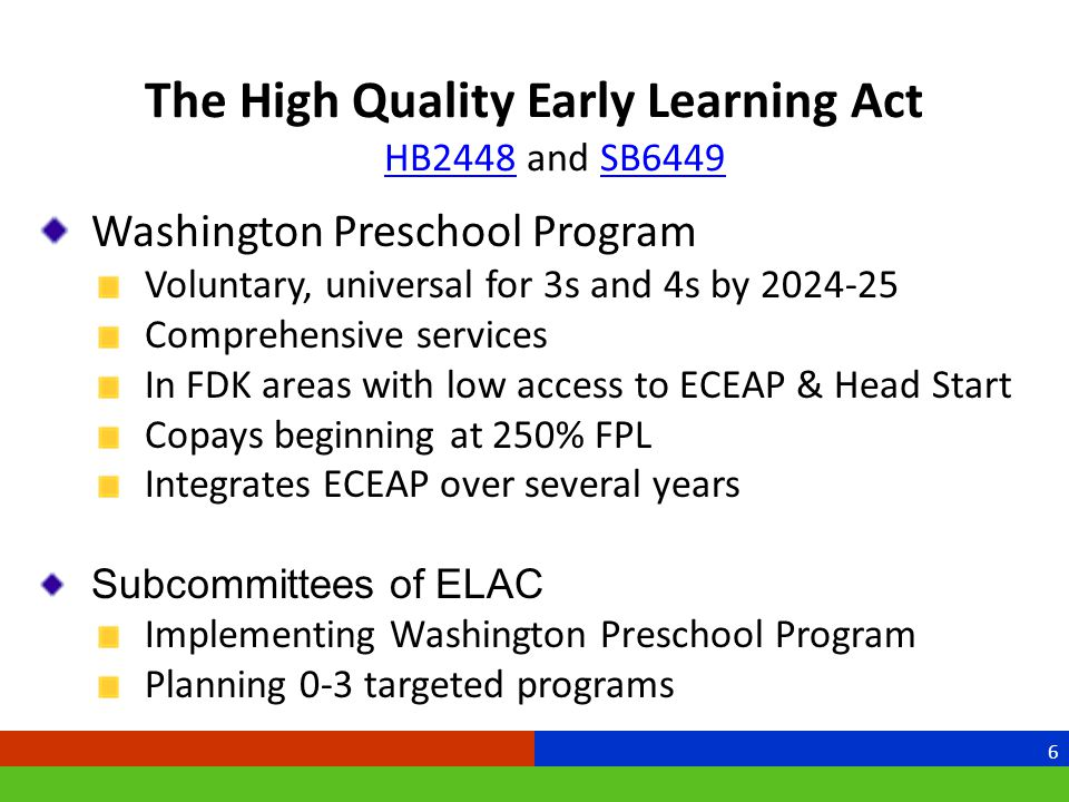 Performance Standards Revisions Effective July 1, 2013 Laying the groundwork for Washington Preschool Aligned with other state initiatives and standards Easy to use Streamlined Relevant/responsive to community cultures and multiple settings 7
