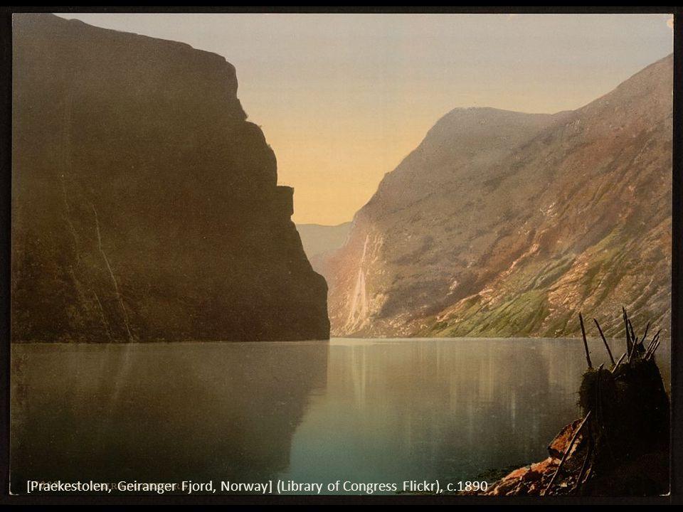 [Praekestolen, Geiranger Fjord, Norway] (Library of Congress Flickr), c.1890