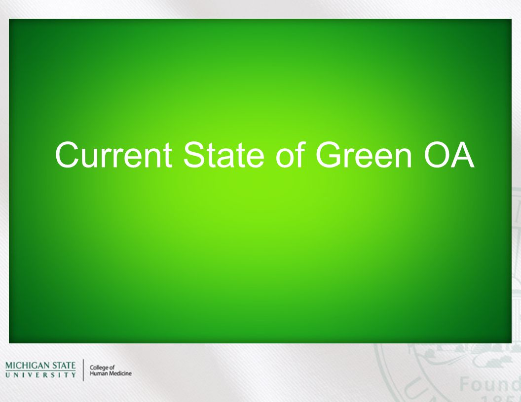 Current State of Green OA