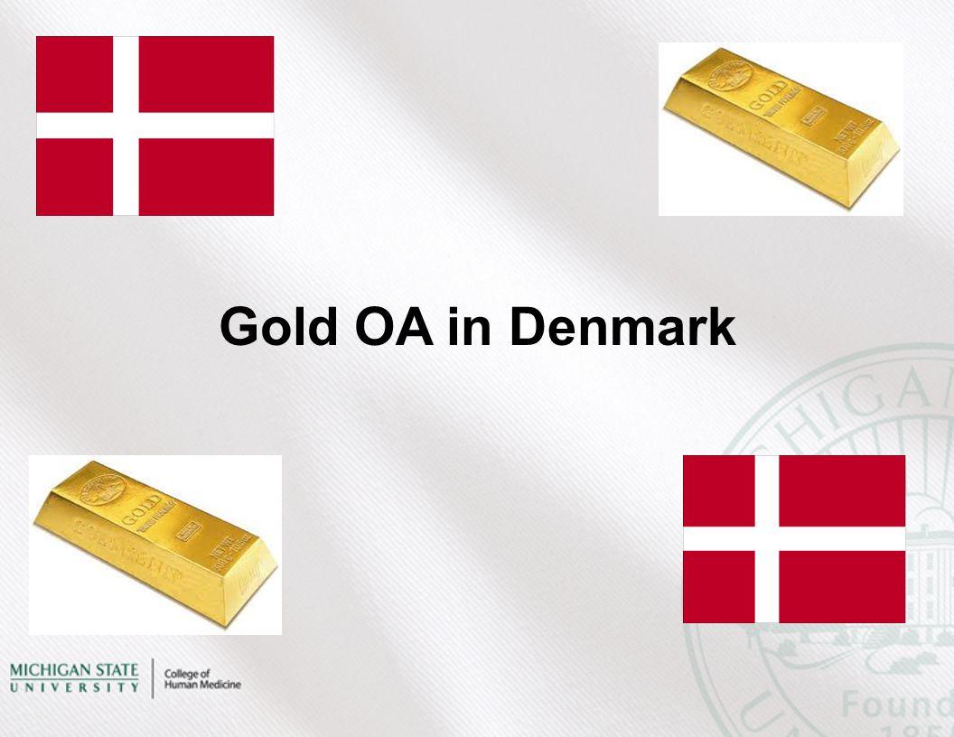 Gold OA in Denmark