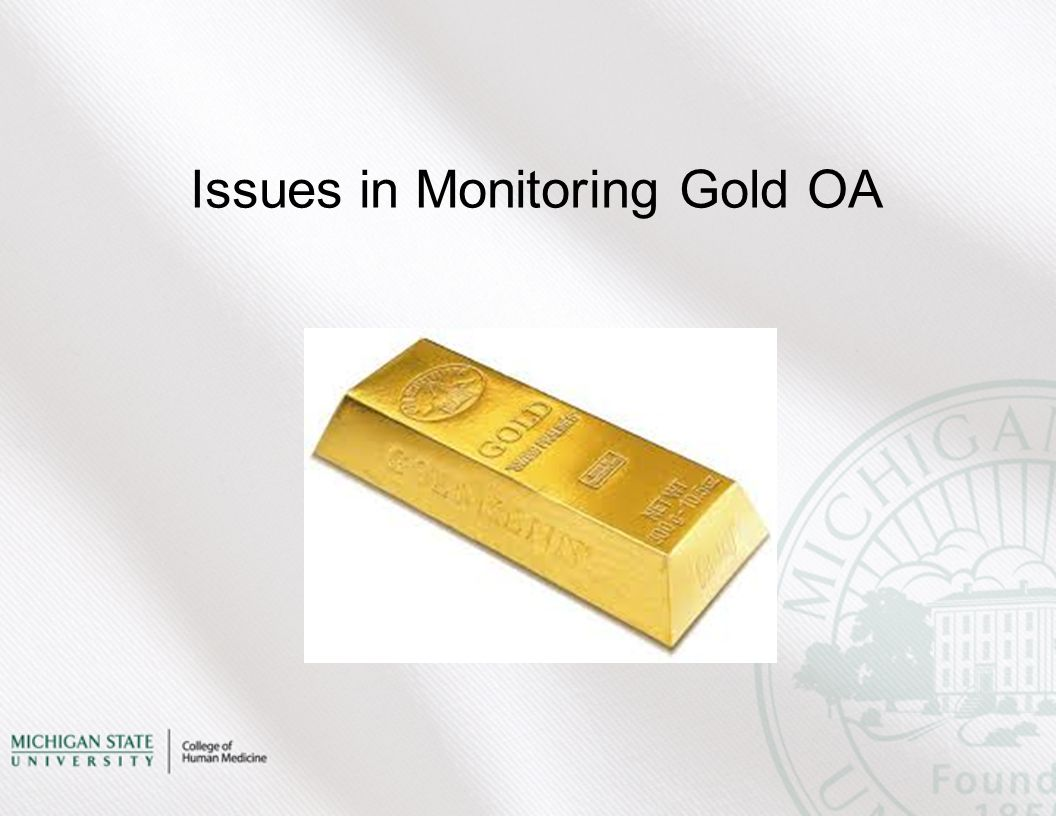 Issues in Monitoring Gold OA
