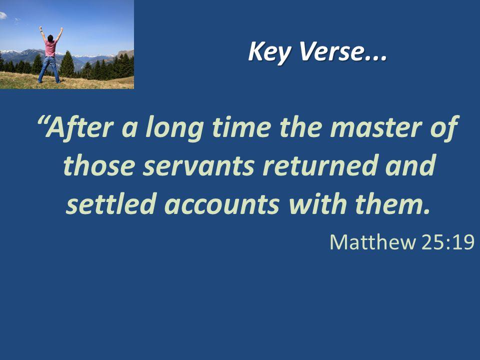 Key Verse...