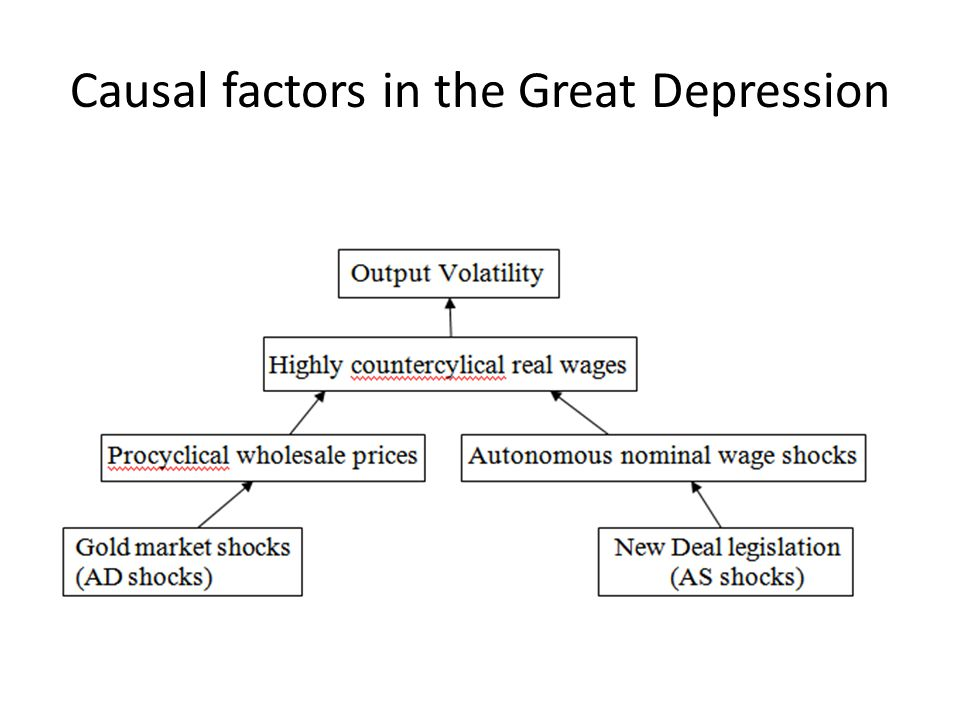 Causal factors in the Great Depression