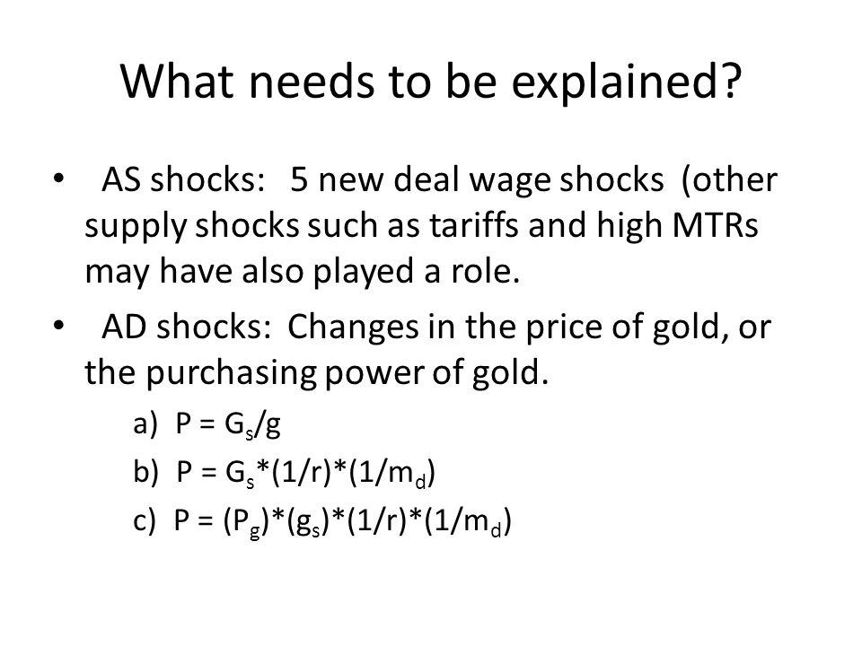 Accounting for the Great Deflation TABLE 2.2 The impact of changes in the world gold-reserve ratio, real demand for currency, real demand for gold, and monetary gold stock, on the world price level, 1926-1932.