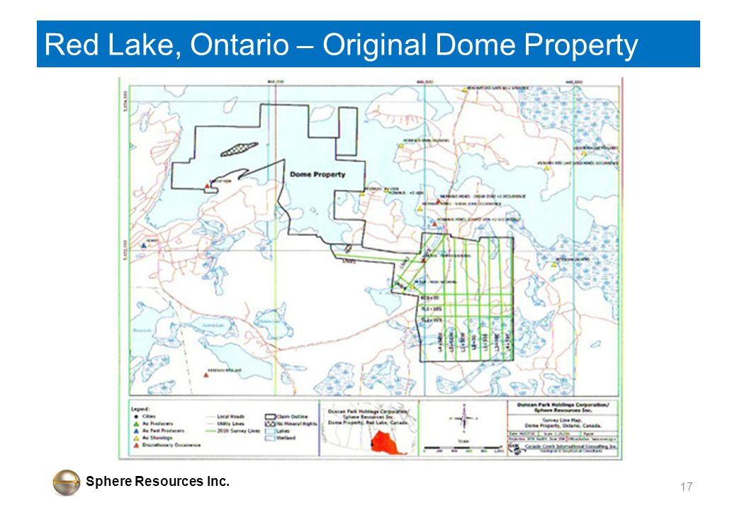 Sphere Resources Inc. Red Lake, Ontario – Original Dome Property 17