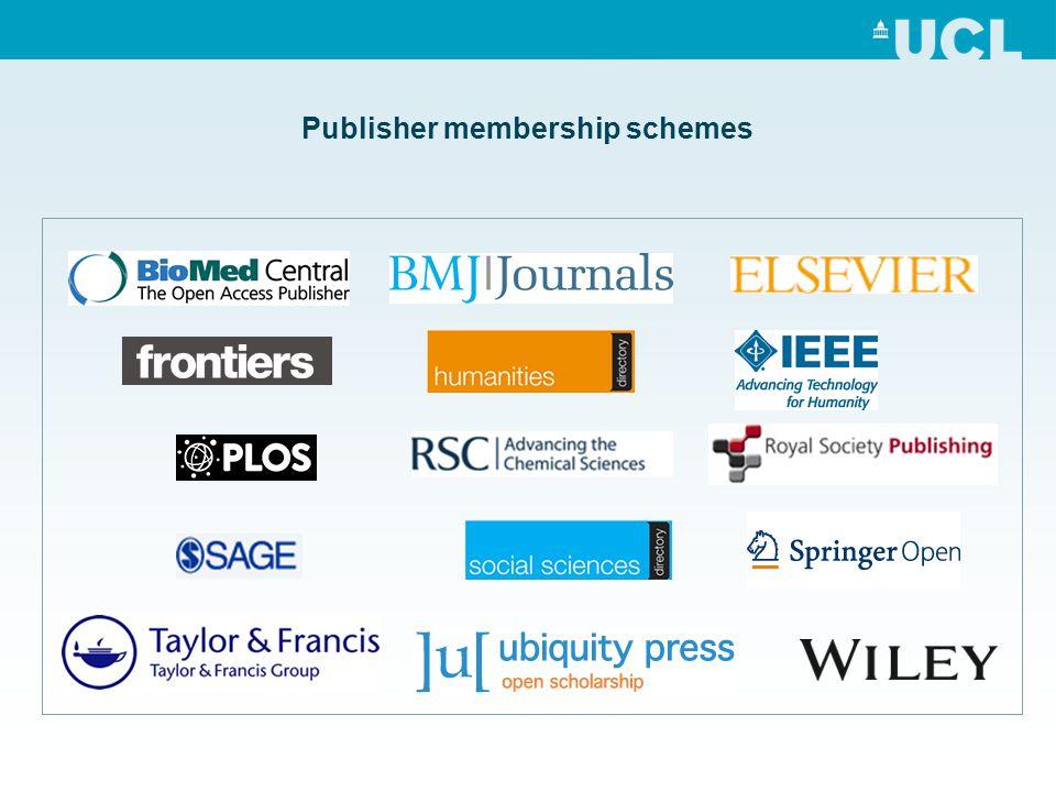 Publisher membership schemes