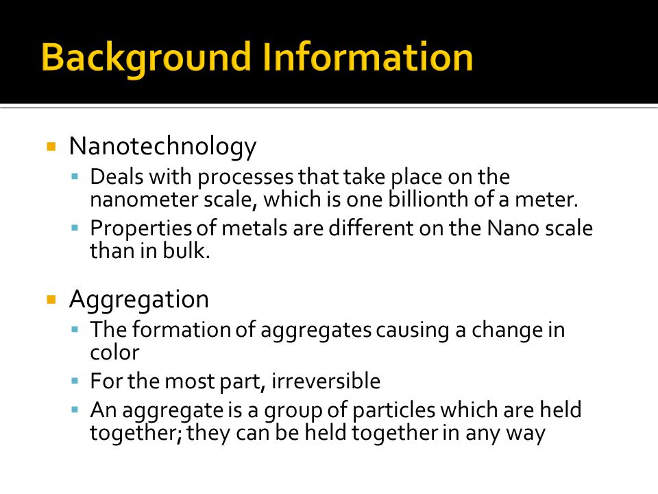 Why add Salt to Aggregate Colloidal Gold.