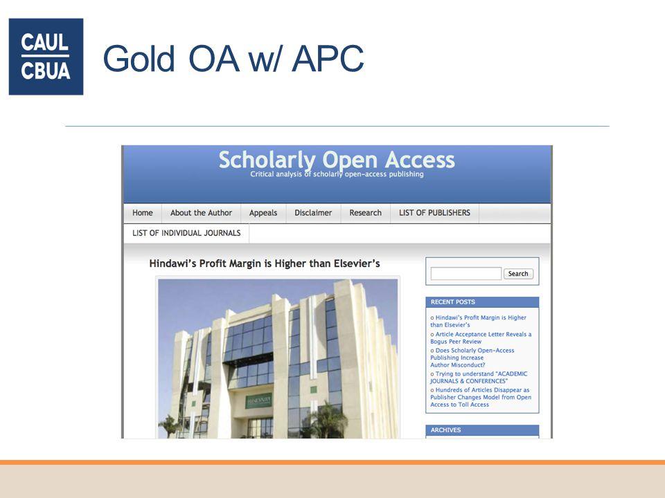 Gold OA w/ APC