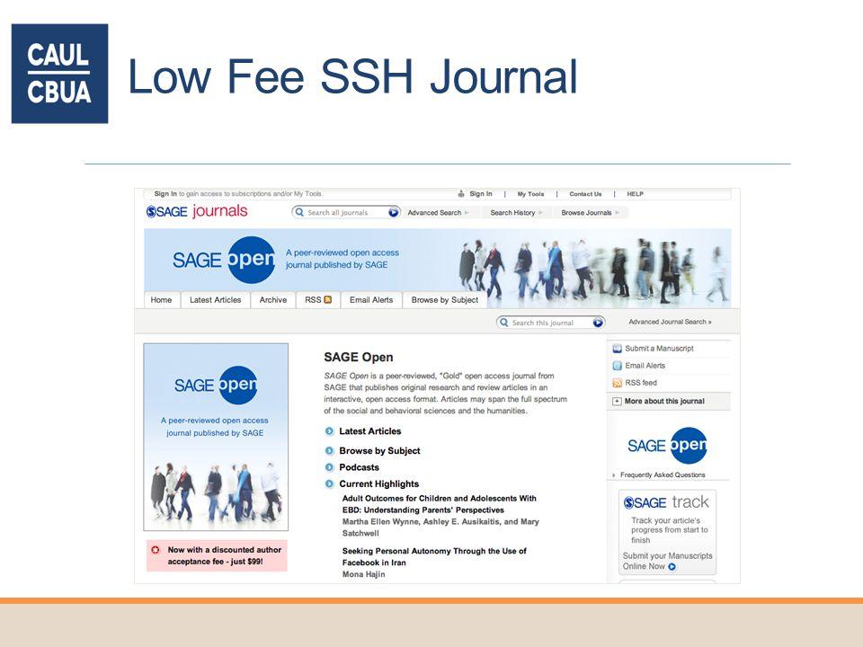 Low Fee SSH Journal