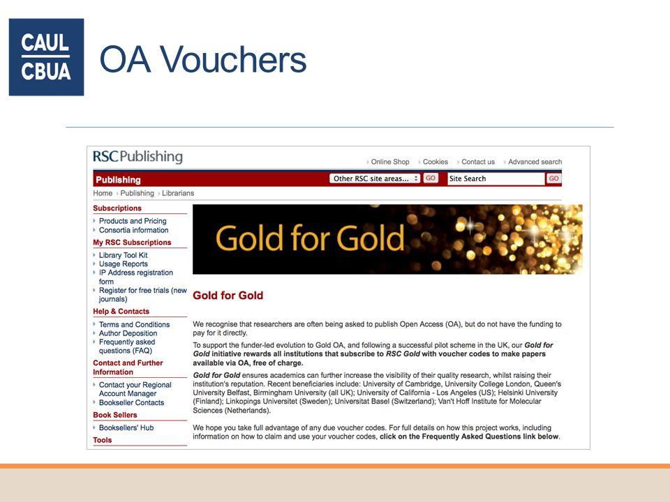 OA Vouchers