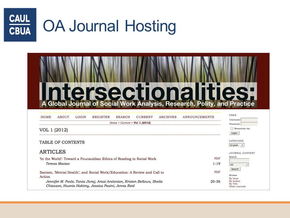 OA Journal Hosting