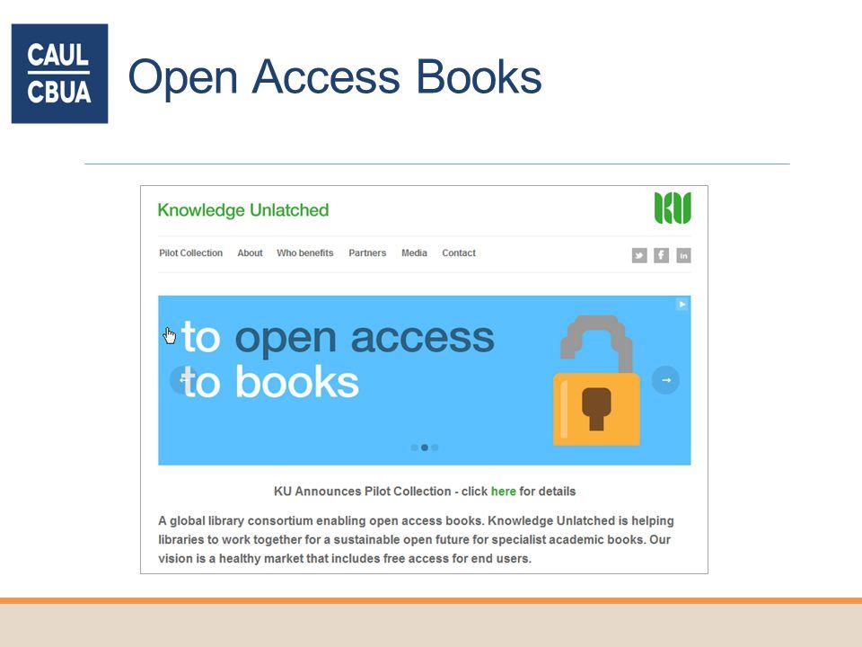 Open Access Books