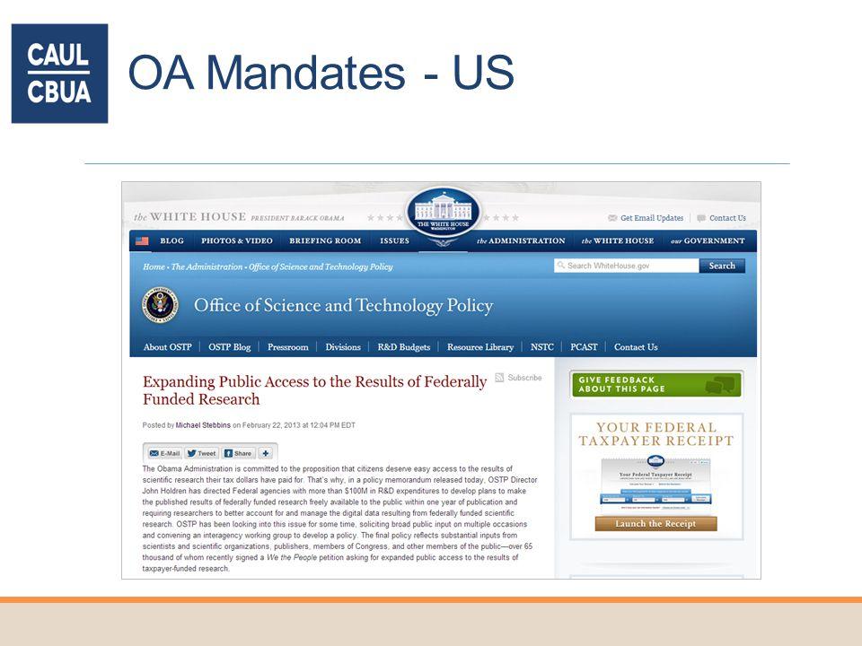 OA Mandates - US