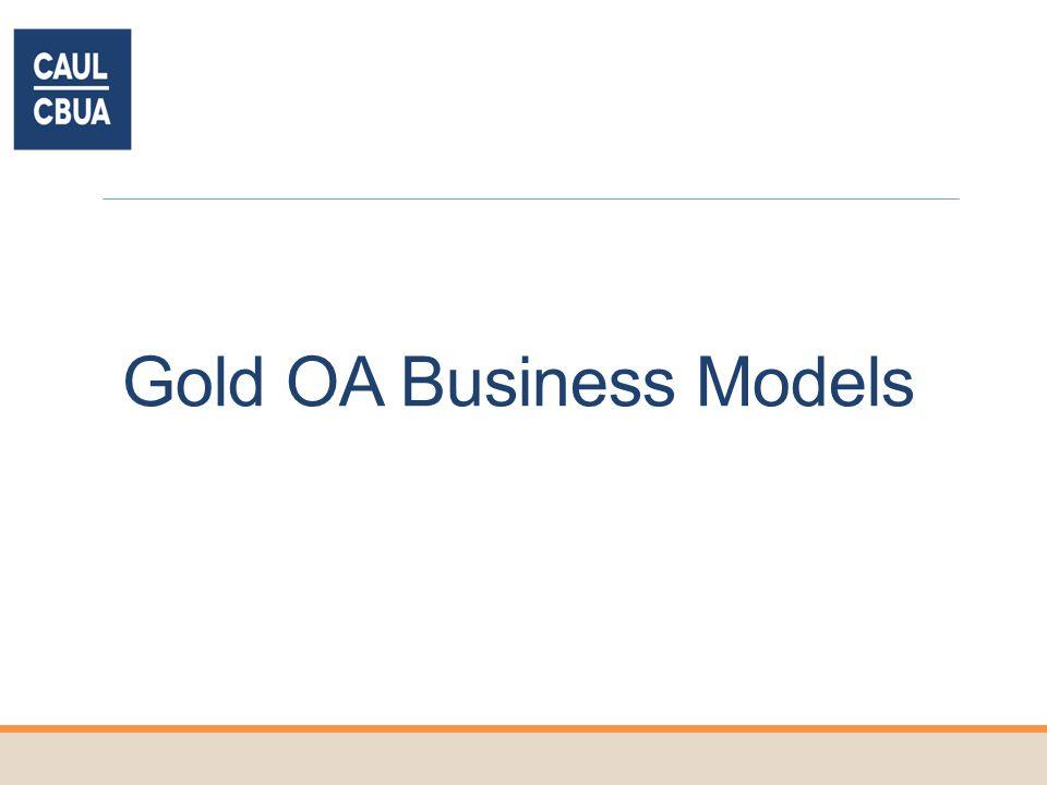 Gold OA Business Models