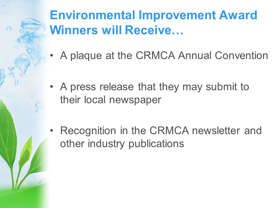 2013 CRMCA Plant Safety Awards