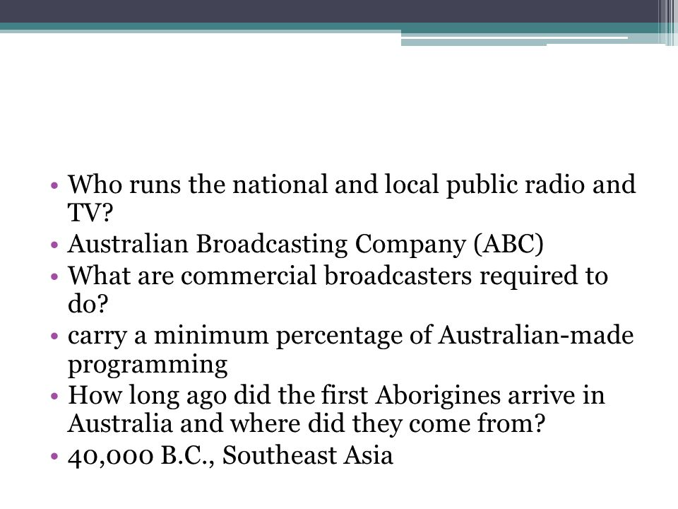 Who runs the national and local public radio and TV.