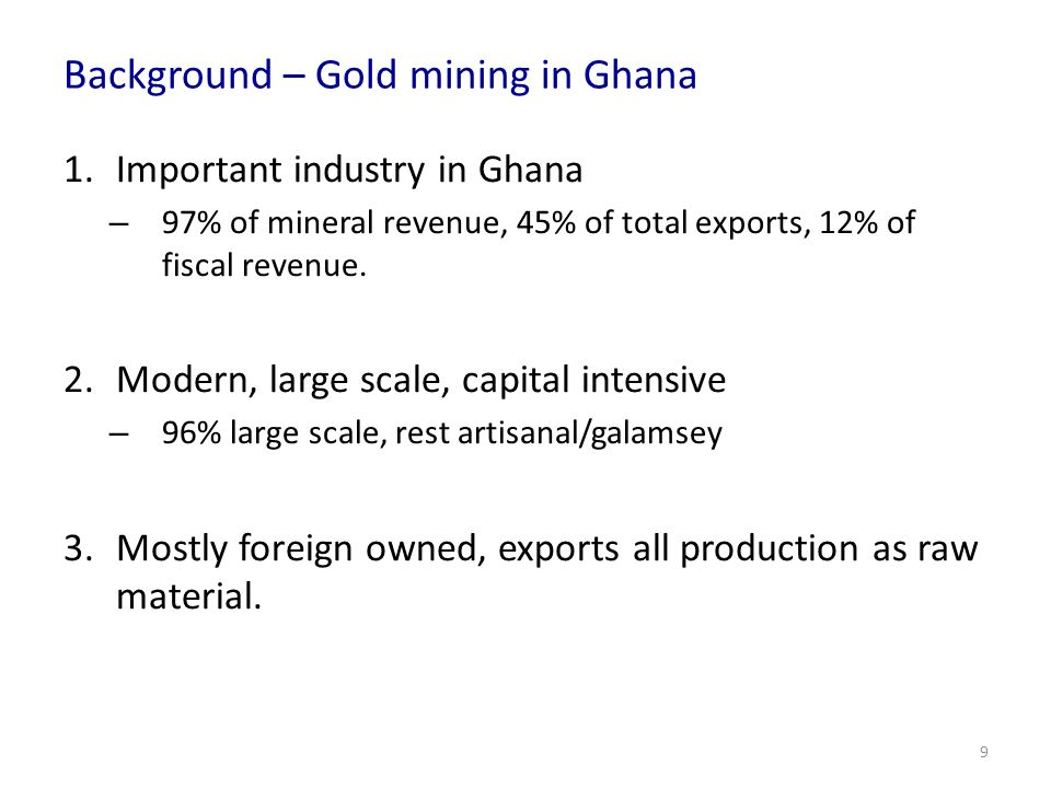 Results – Mining and Crop Yields 40 Back