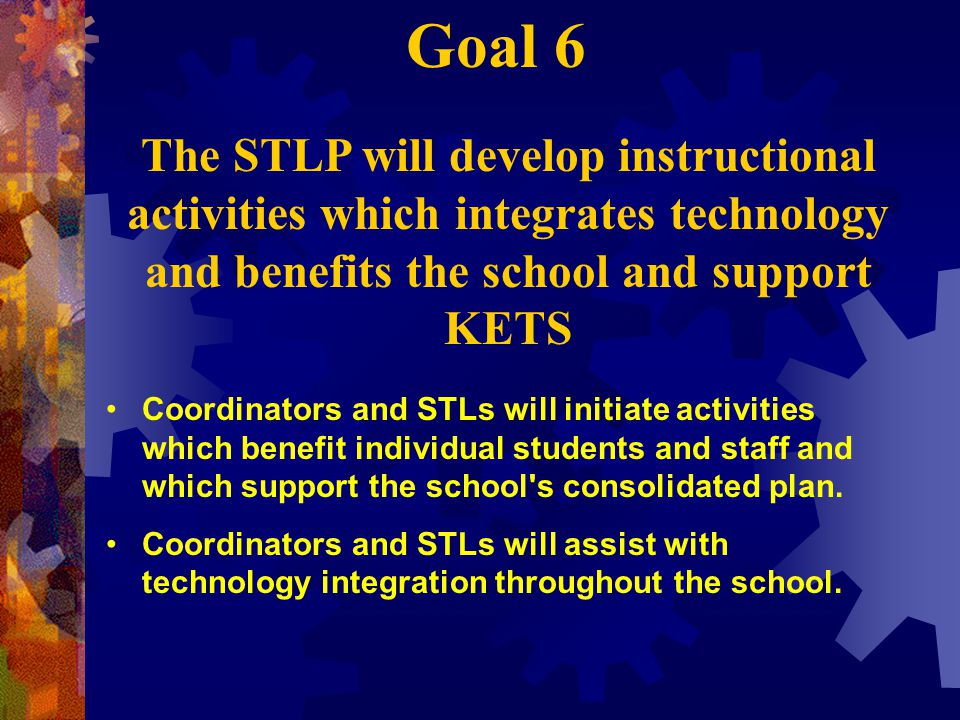 Coordinators and STLs will initiate activities which benefit individual students and staff and which support the school s consolidated plan.