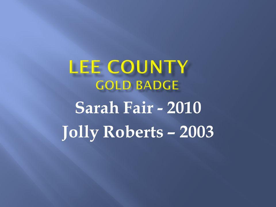 Sarah Fair - 2010 Jolly Roberts – 2003